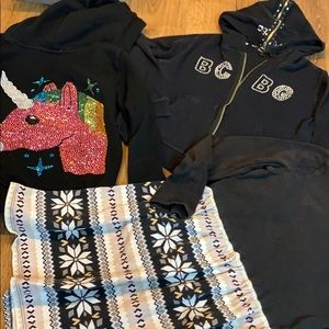 Gymboree dress girls 8-10 lot BCBG hoodie unicorn